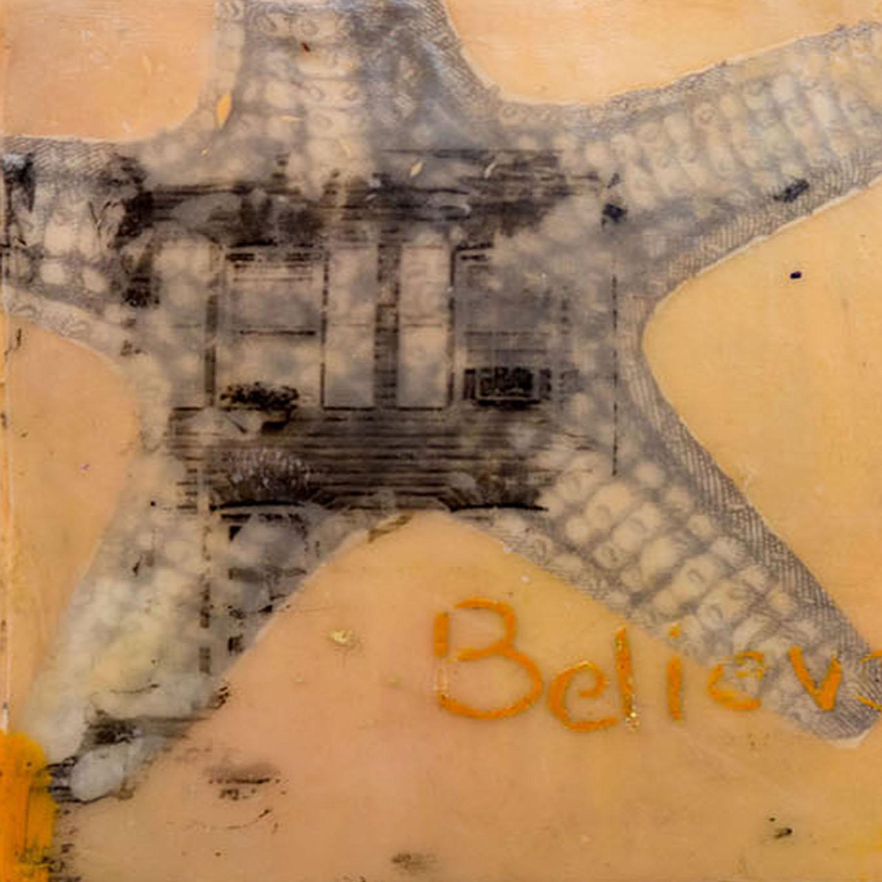 encaustic, rowhome, formstone, seastar, starfish, believe, baltimore