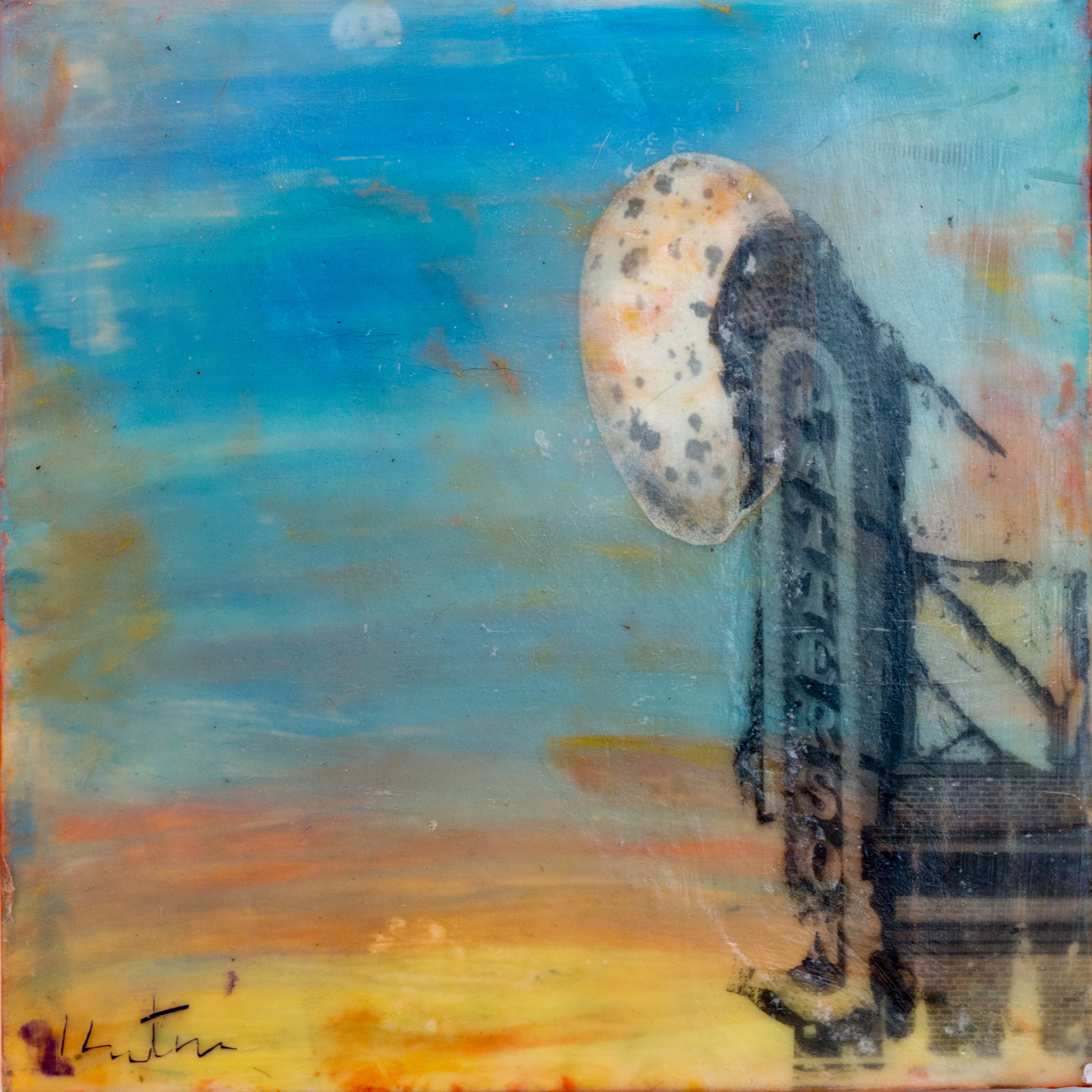encaustic, creative alliance, moon, marquee, cityscape