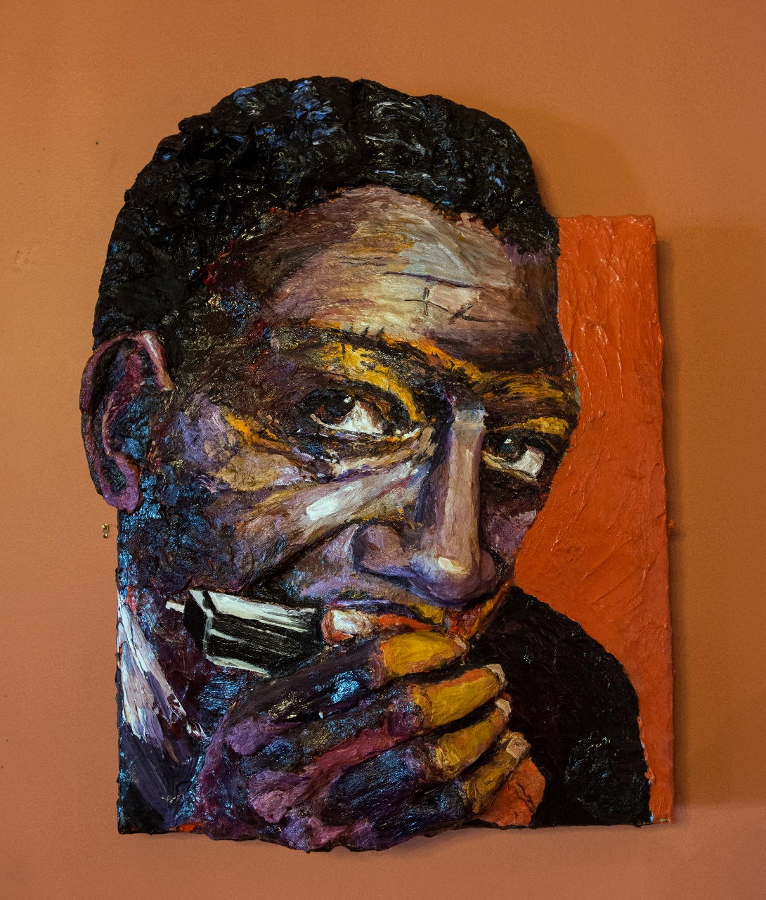 Built-Out Portrait of Little Walter Jacobs by Artist Brett Stuart Wilson