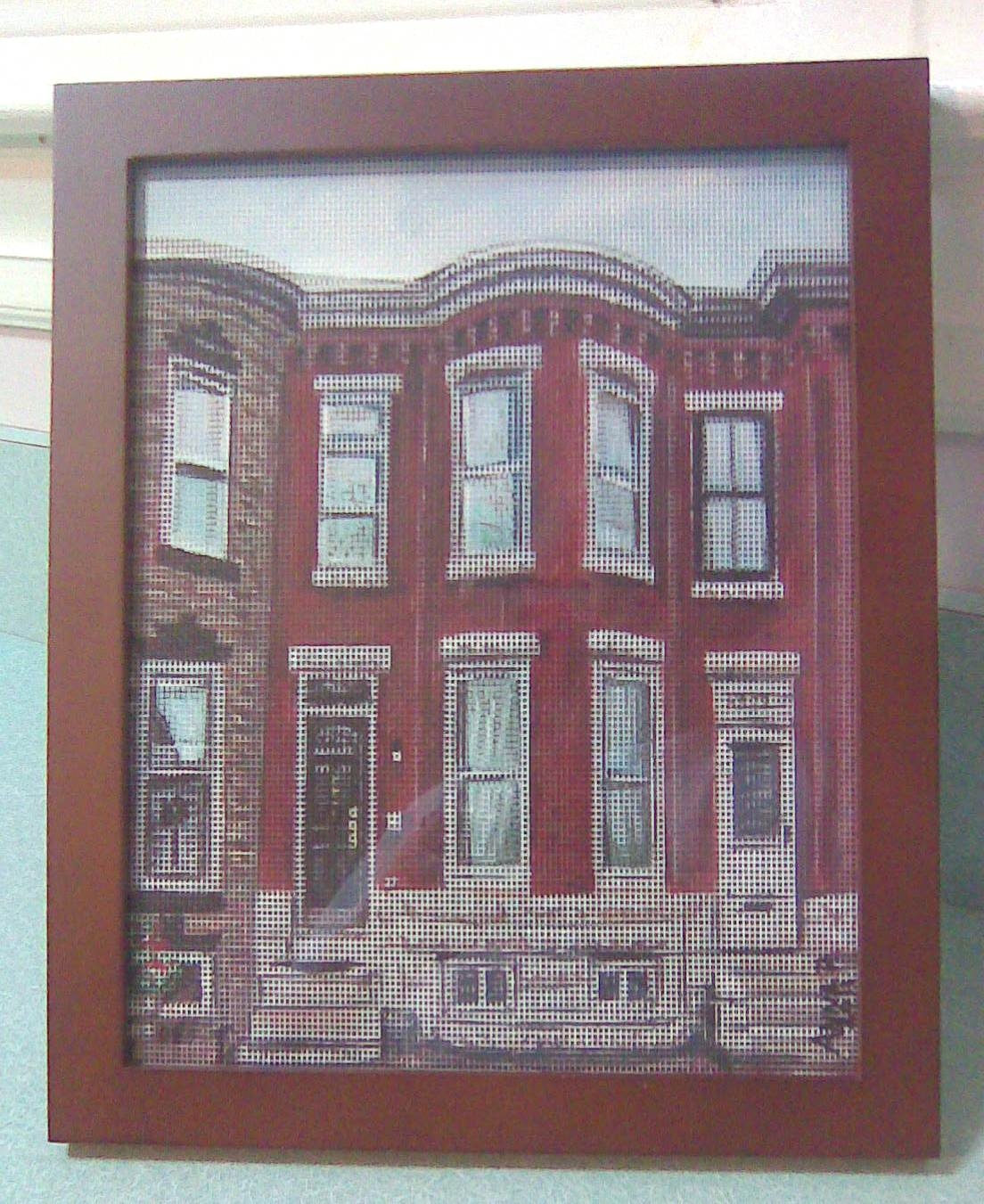 See through screen painting of a Swell Front Rowhome