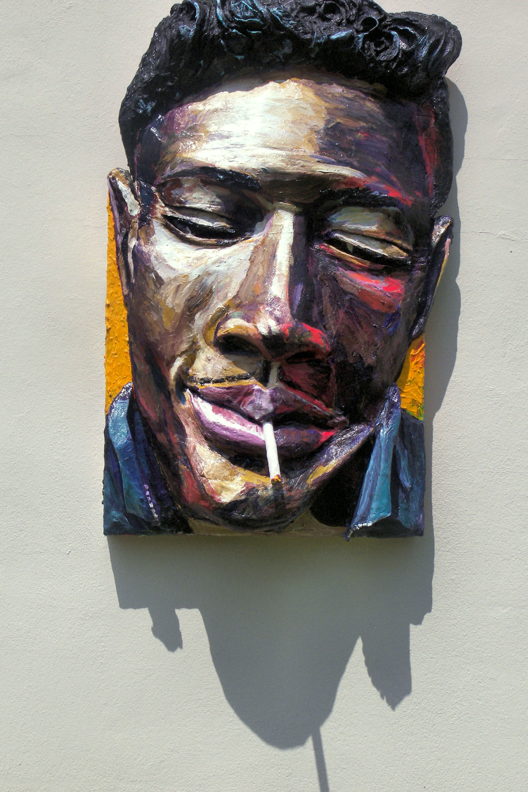 Built-Out Portrait of Junior Wells by Artist Brett Stuart Wilson