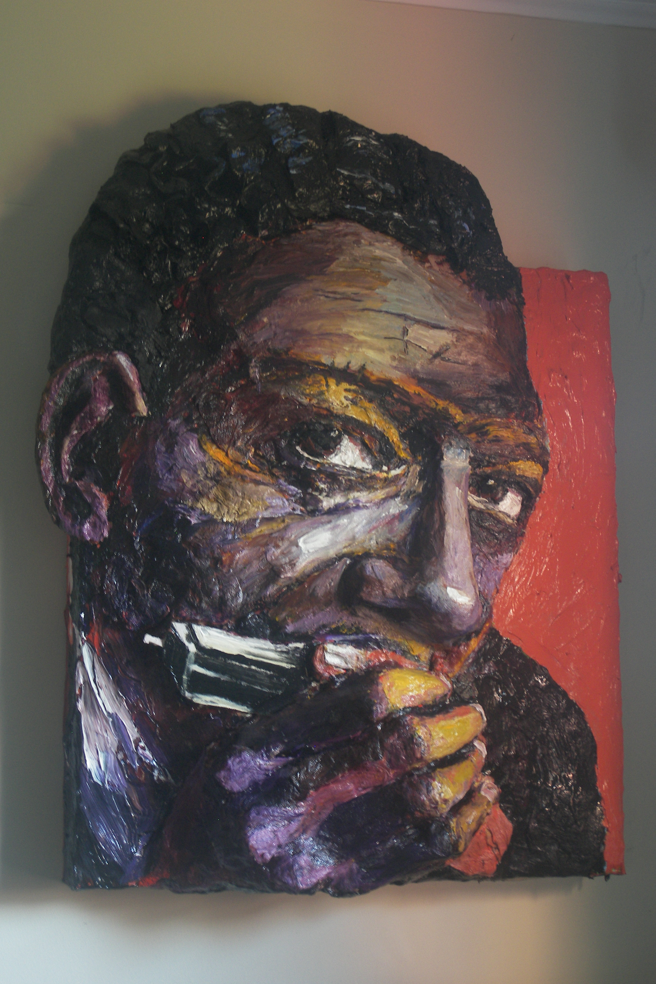Built-Out Portrait of Little Walter by Artist Brett Stuart Wilson