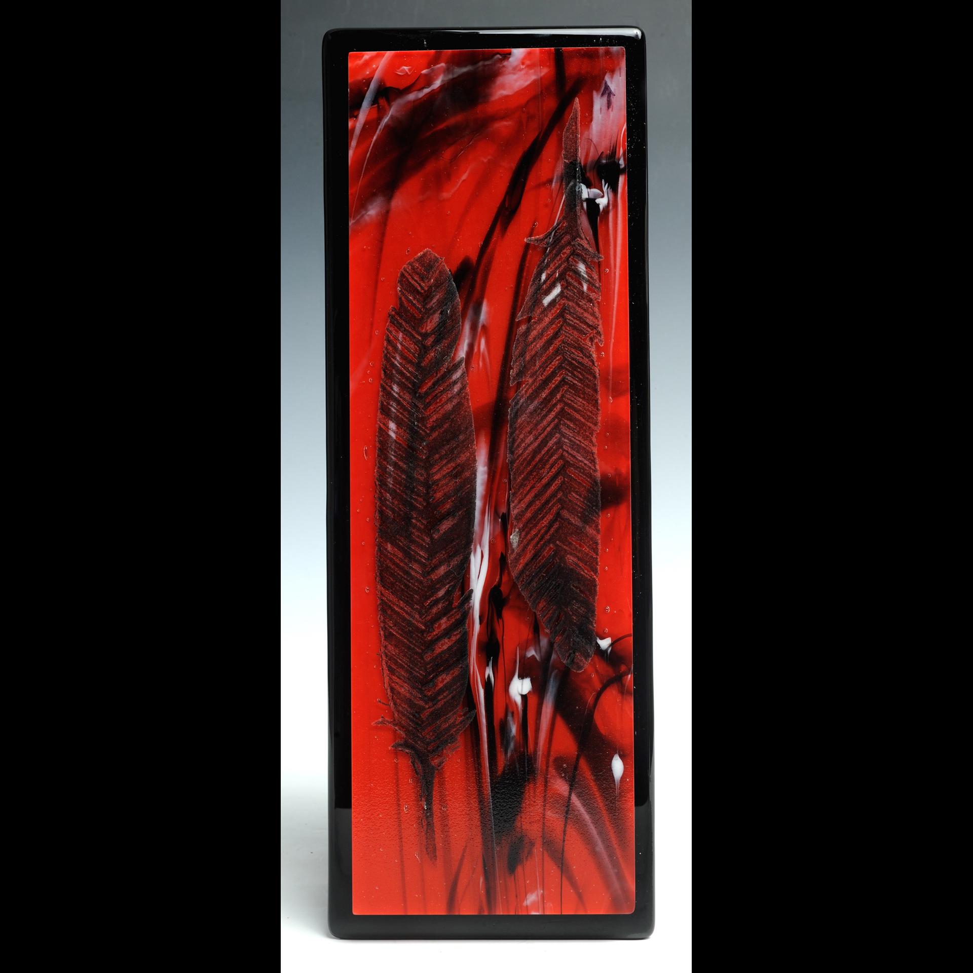 black/red artwork