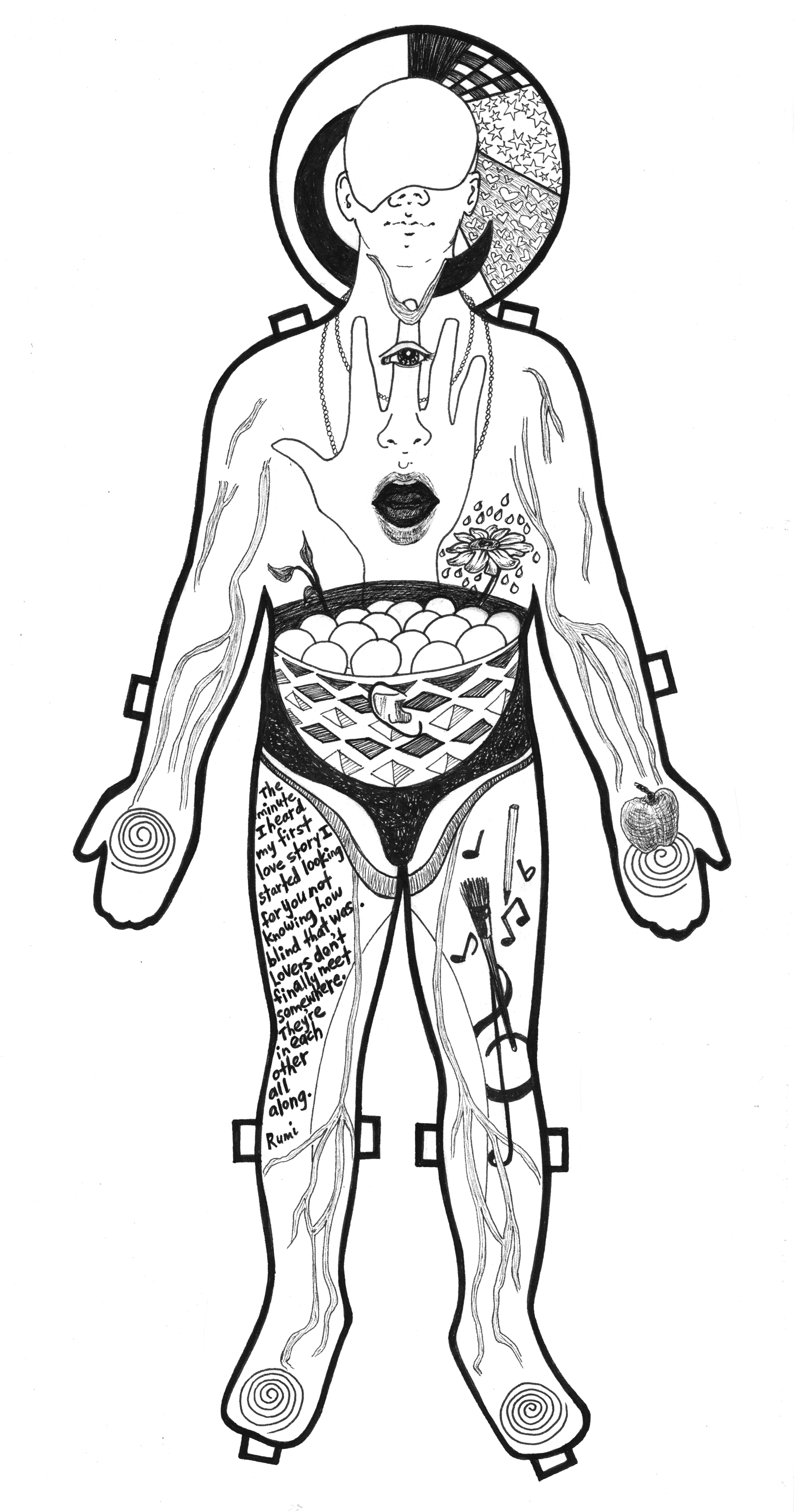 drawing, marker, sensual, men, male, paper dolls, blood coursing, senses, quotes