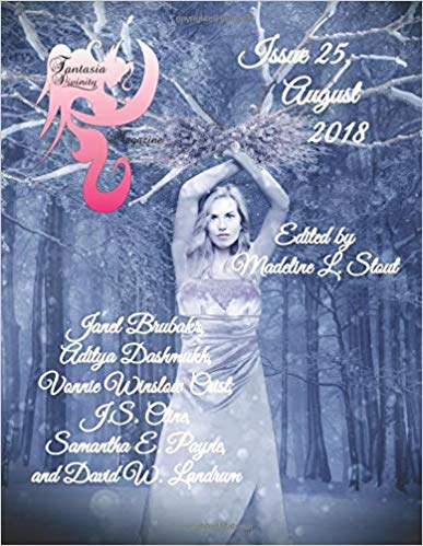 """Fantasia Divinity Magazine"" Aug. 2018 contains Vonnie's story, ""Battlefields."""