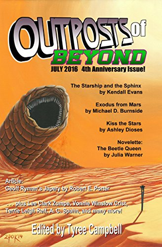 """Outposts of Beyond"" July 2016 contains Vonnie's story, ""Bloodguiltless."""