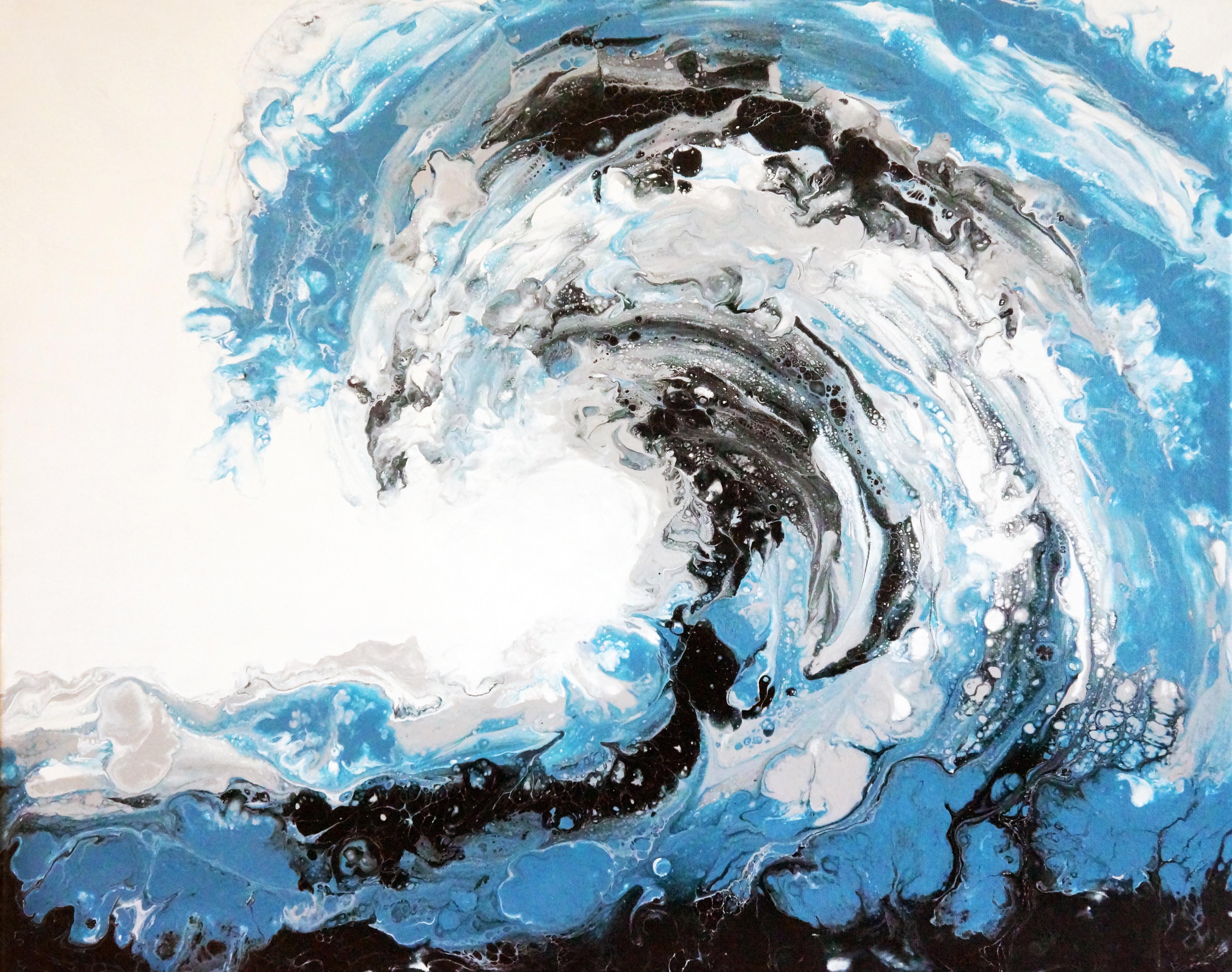 acrylic fluid painting, abstract wave, fluid painting, abstract painting, pour painting, blue fluid painting, beach fluid painting, beach, tropical painting, blue abstract painting, wave painting