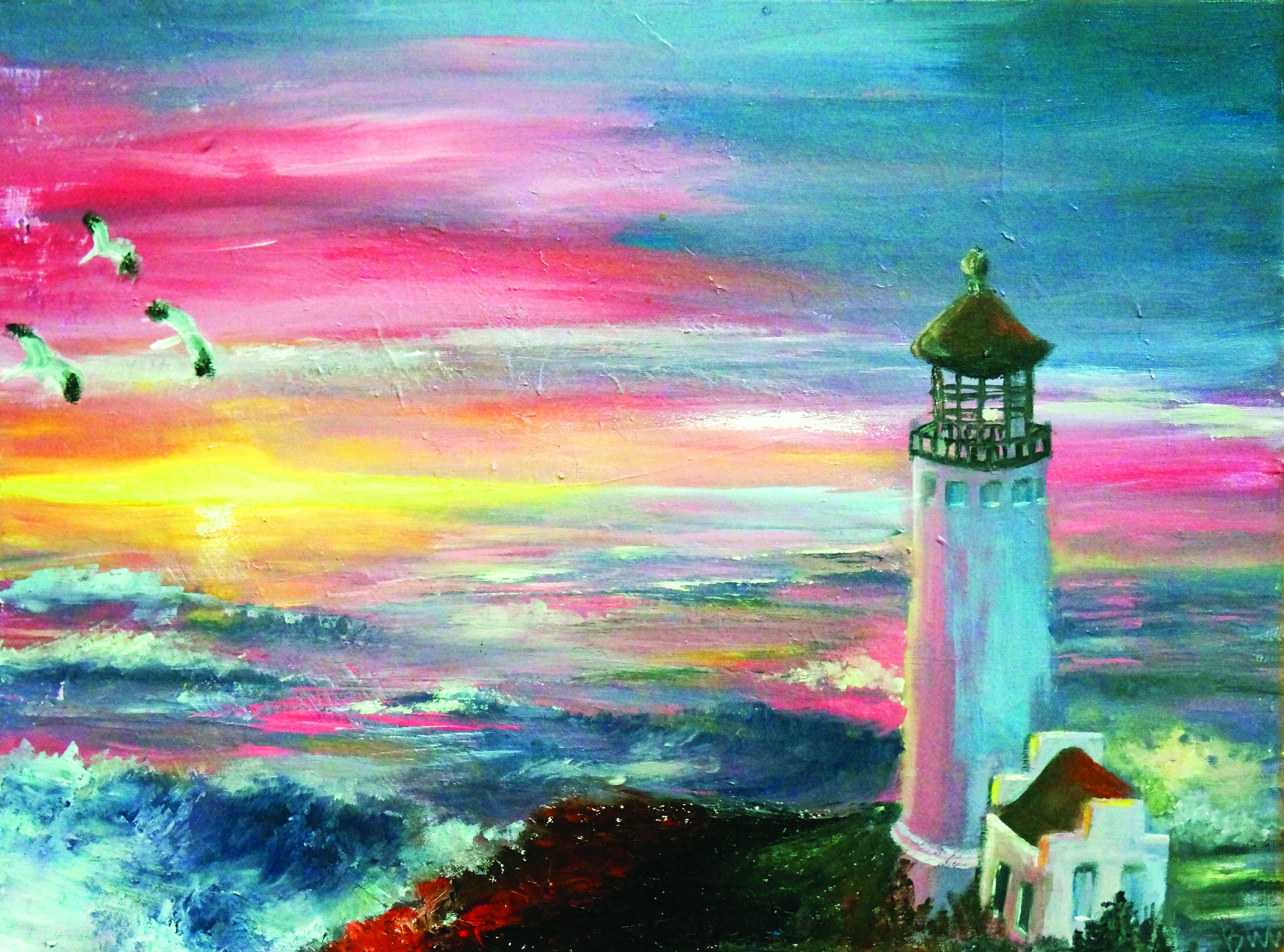 artist, exhibition, oil painting, landscape painting, lighthouse painting, landscape exhibition