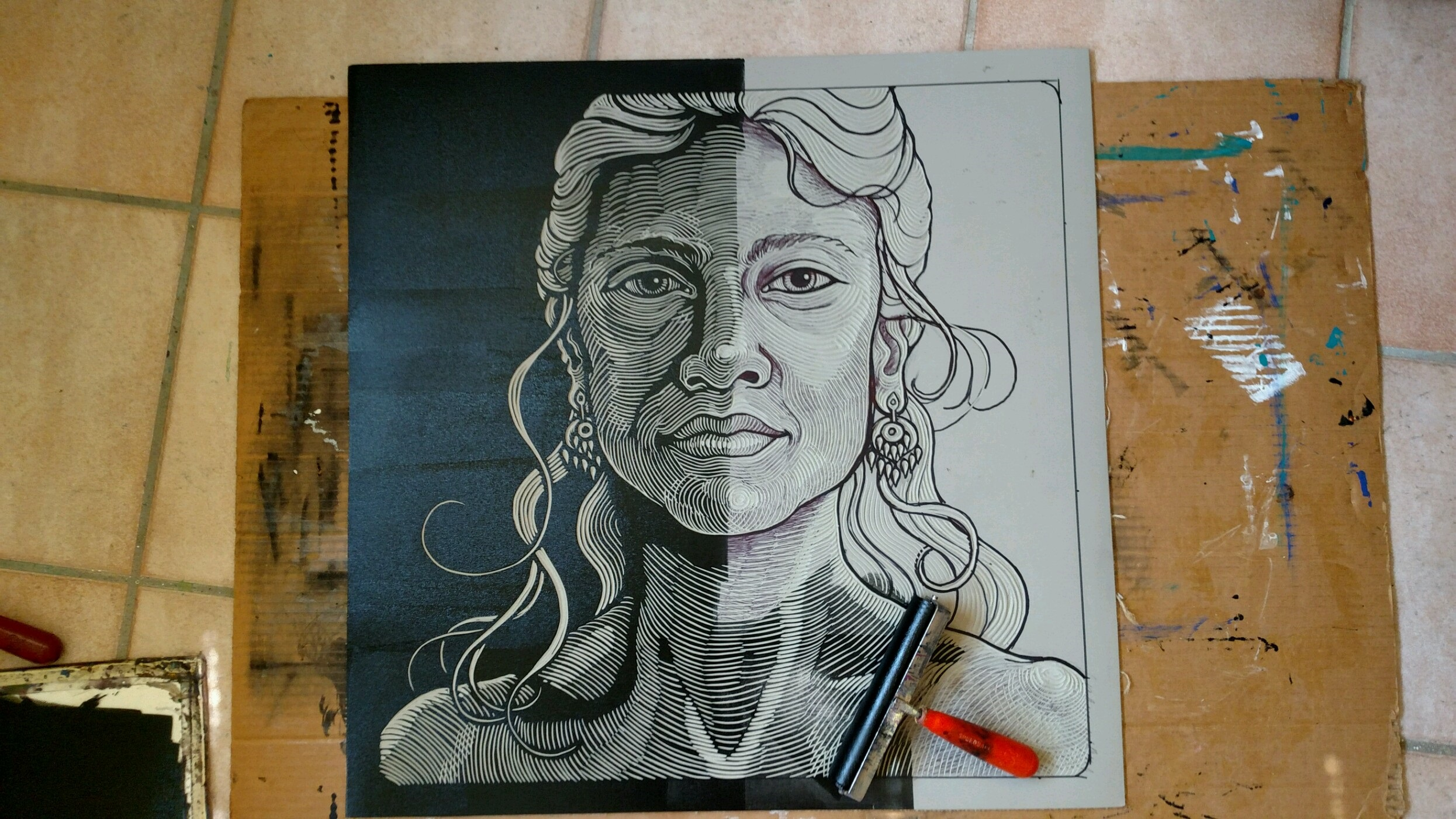 Step #3 - The block is inked