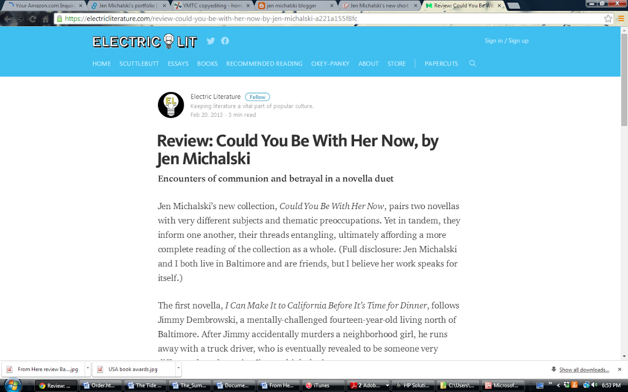 Electric Literature Review