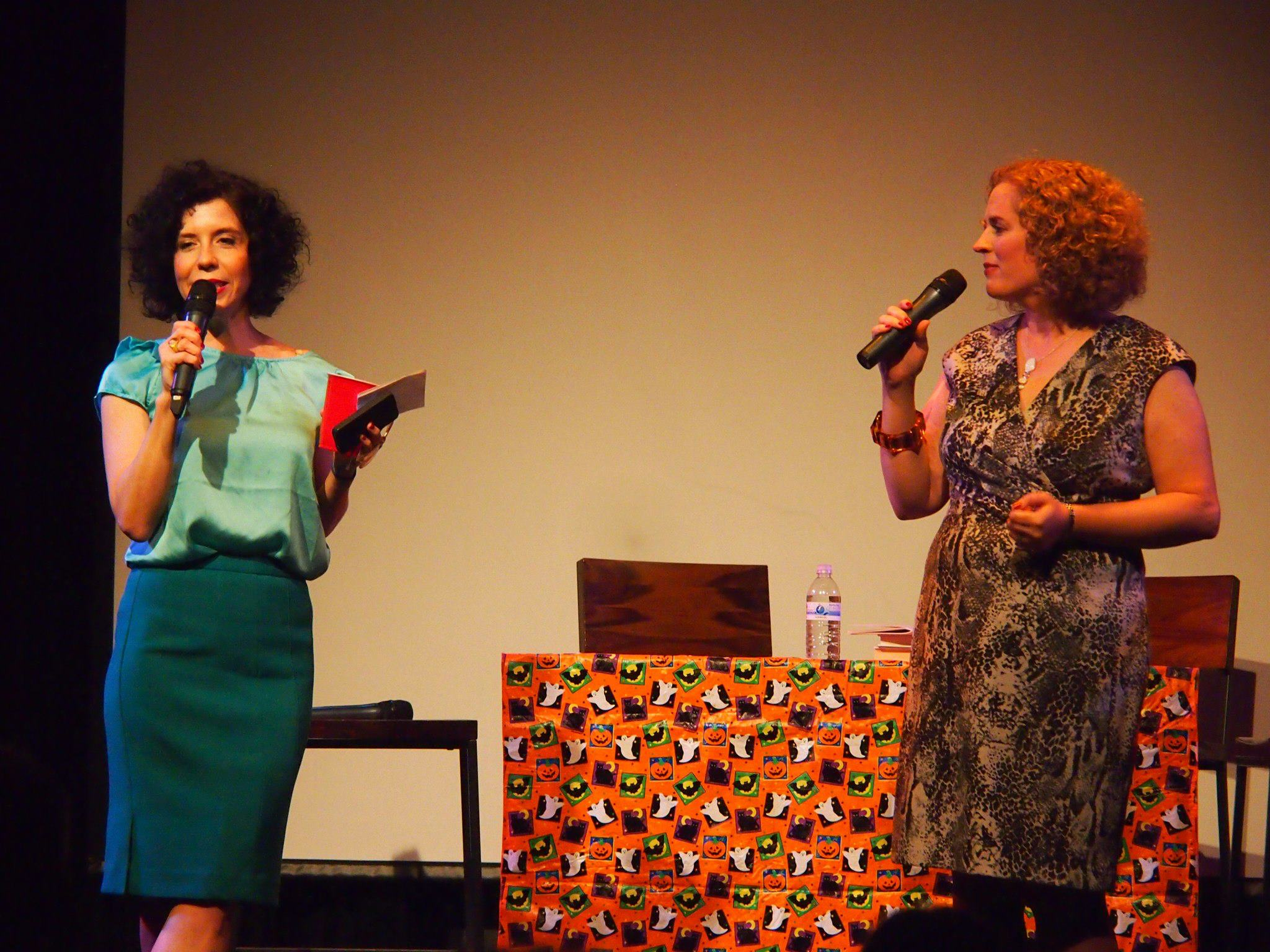 The Lit Show, Creative Alliance, 2012, with co-host Betsy Boyd.