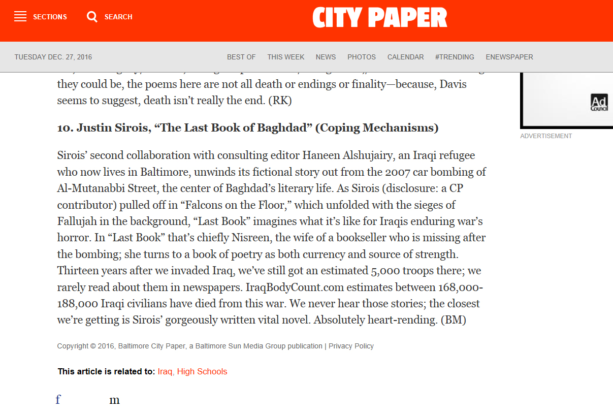 Best of Baltimore 2016, The Baltimore City Paper