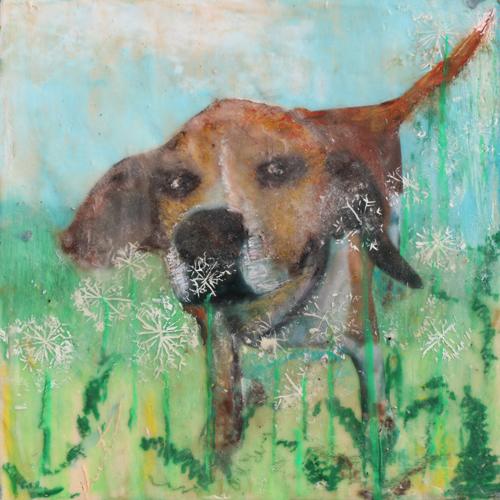 pet,portrait,dog,dandelion,memento,commission