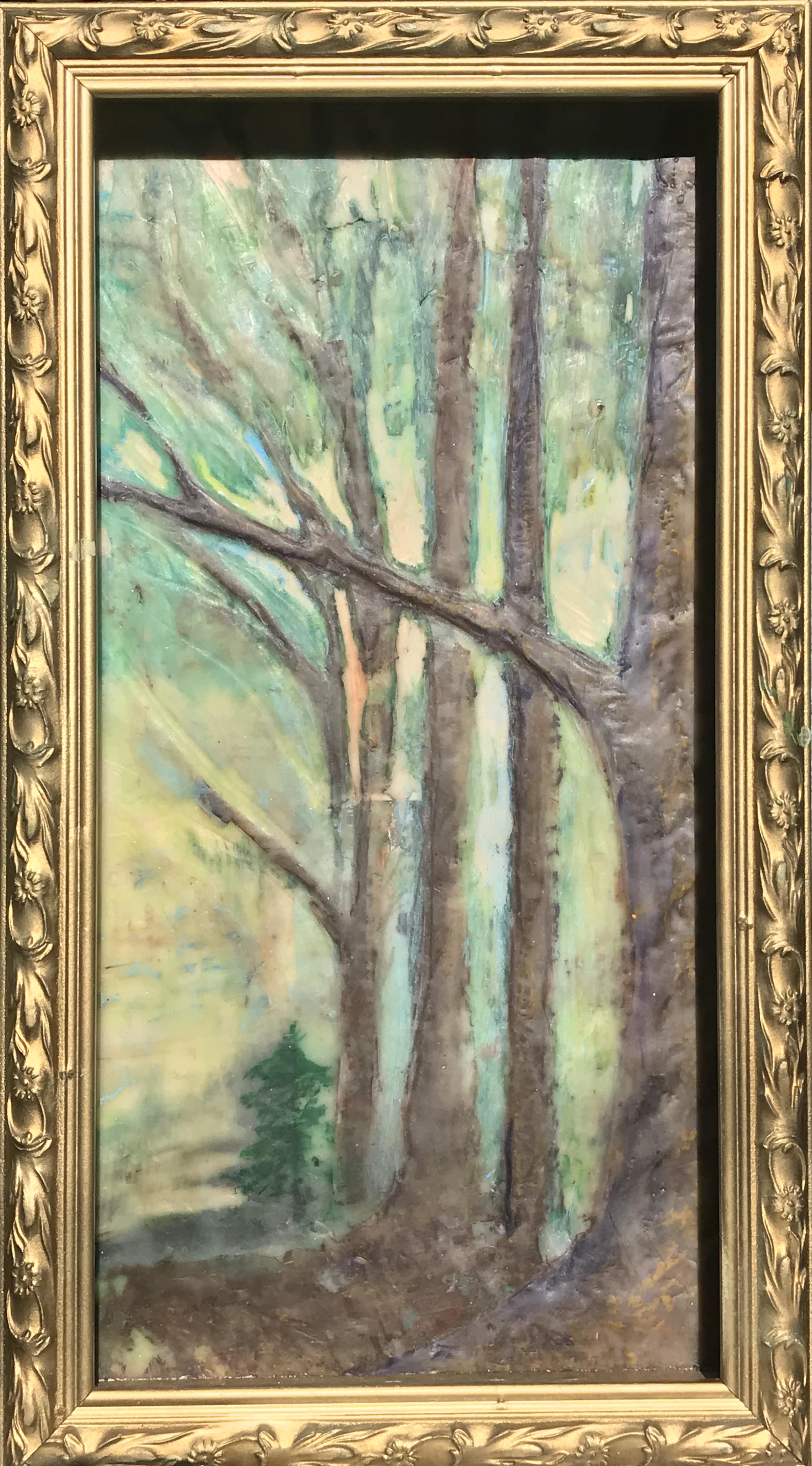 landscape,nature,fall,woods,walkinthewoods,encaustic