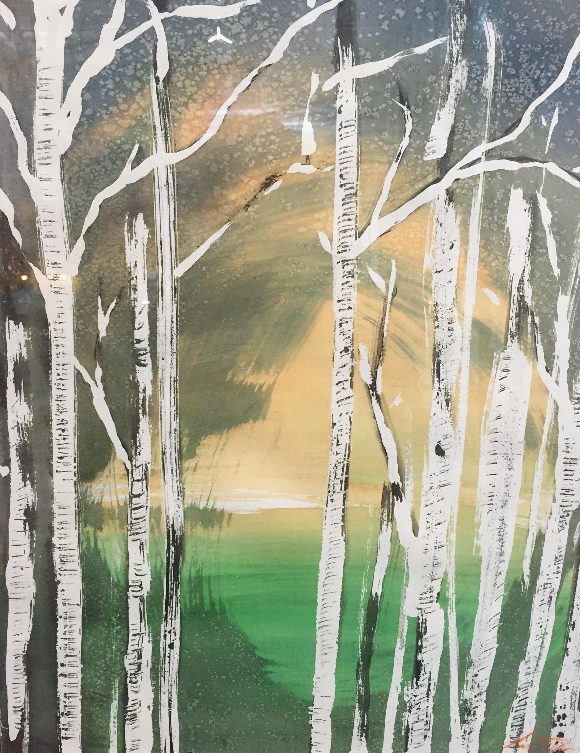 landscape,woods,nature,watercolor