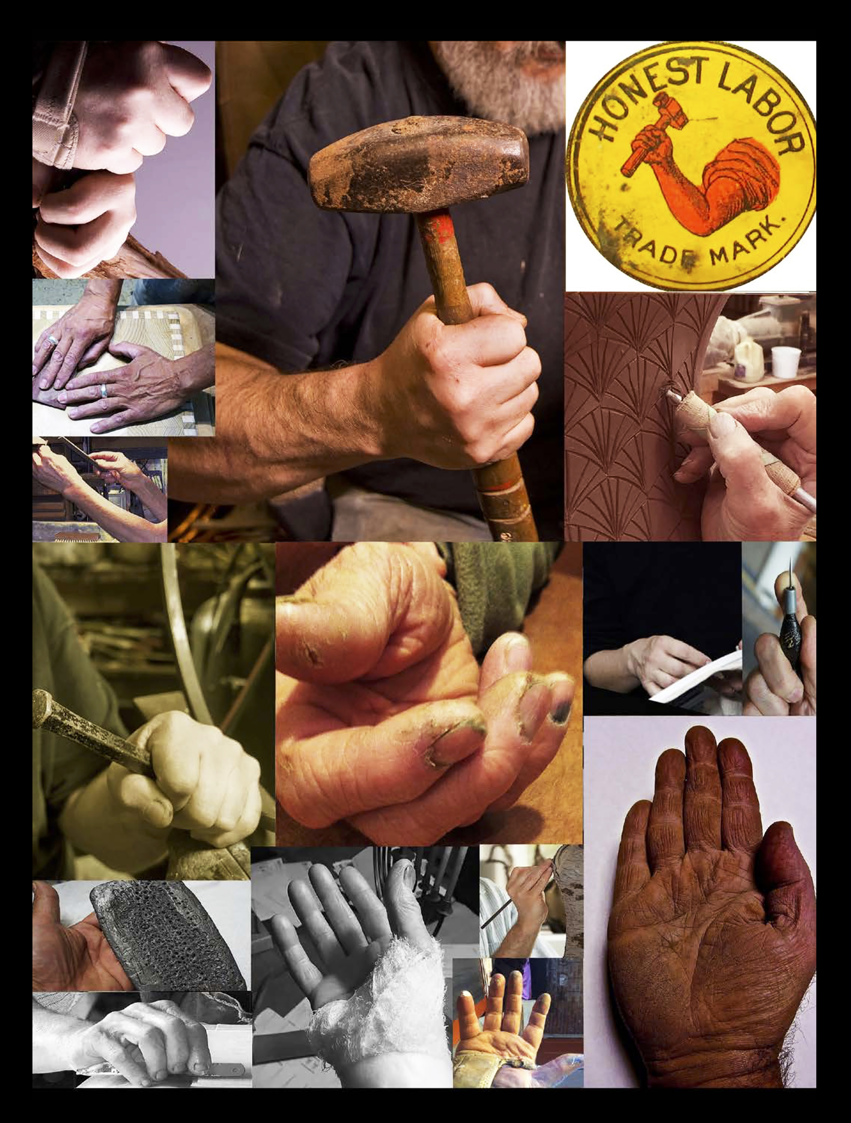 Makers hands tell a thousand stories, a collage Craft (noun) something produced skillfully by hand Craftsmanship (noun) the skill involved in making something beautiful or practical using your hands Craftsperson (noun) someone who creates beautiful of pra
