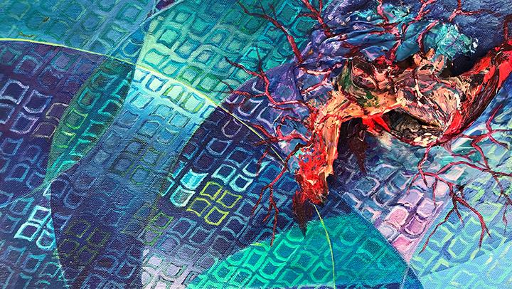 Transplant, Acrylic Painting