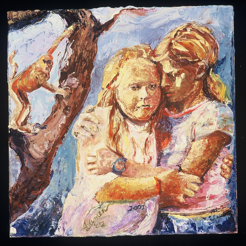 childhood trauma, Sept. 11, 2001, psychological reactions, oil paint, narrative