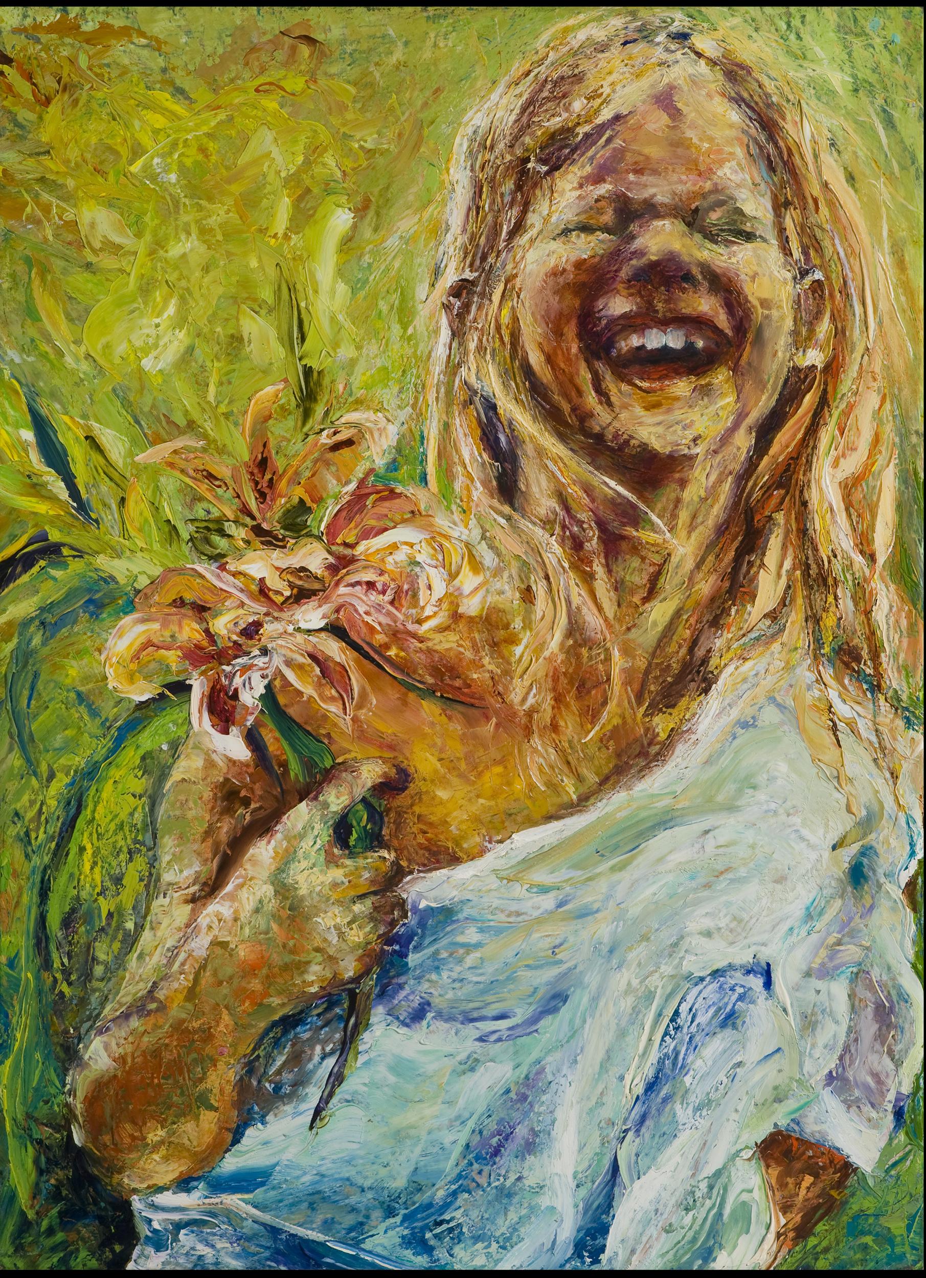 expressionist portrait, child,