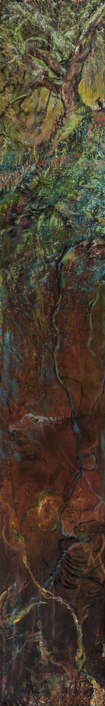 poetry, sliver oil painting, landscape metaphor, time lost, time eternal