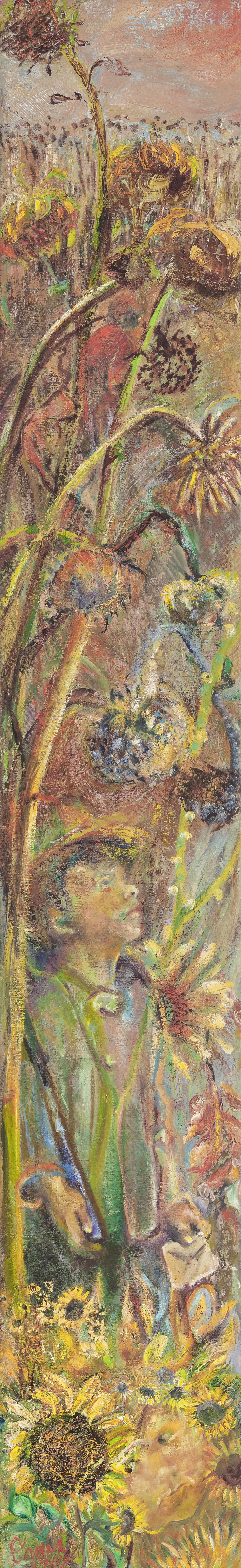 Sliver oil painting, poetry, forgotten veterans