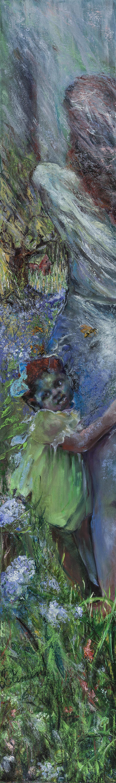 poetry, sliver oil painting, landscape metaphor, time lost