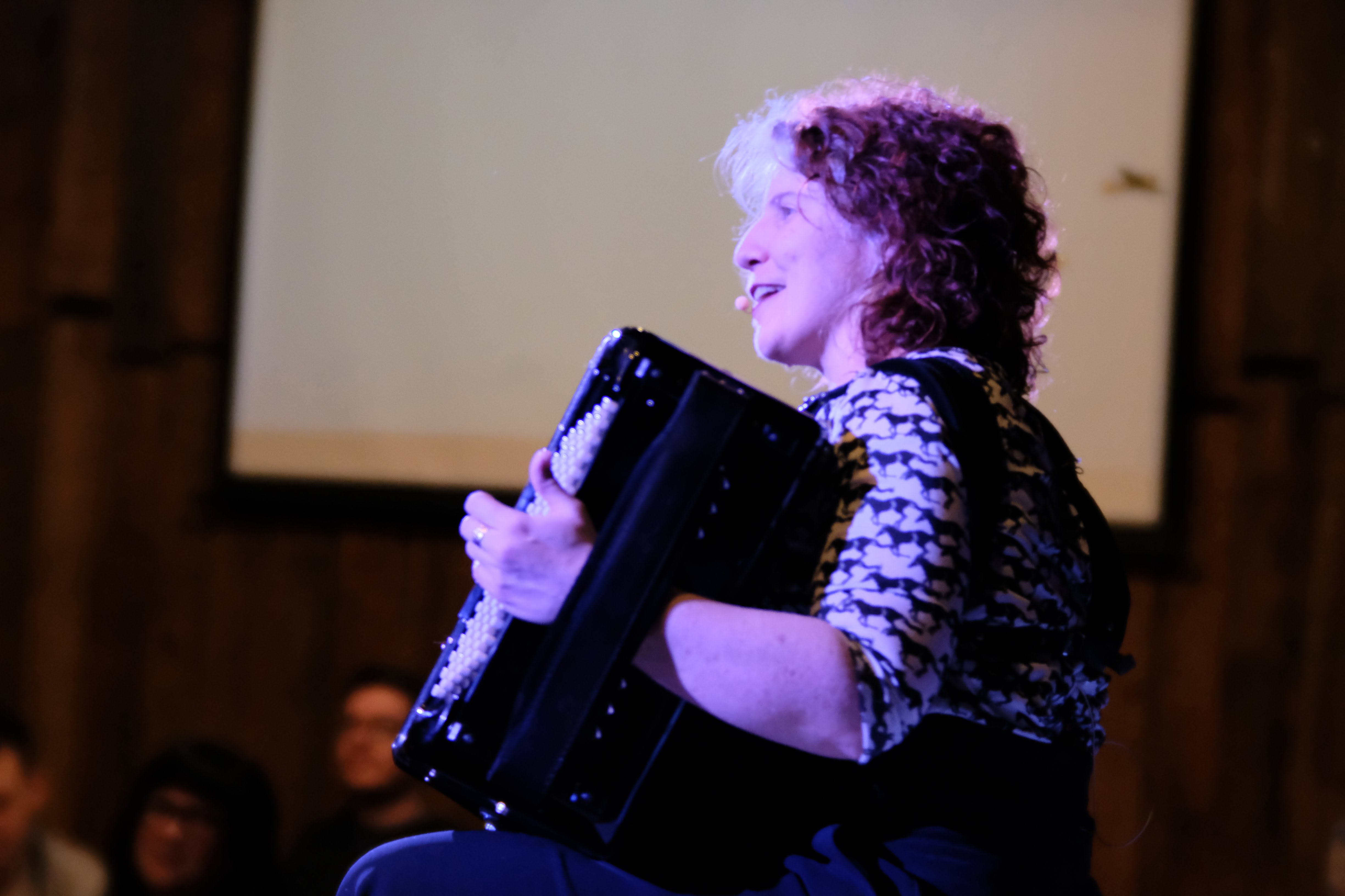 Dr. M. sings and plays Lithium Song on the accordion