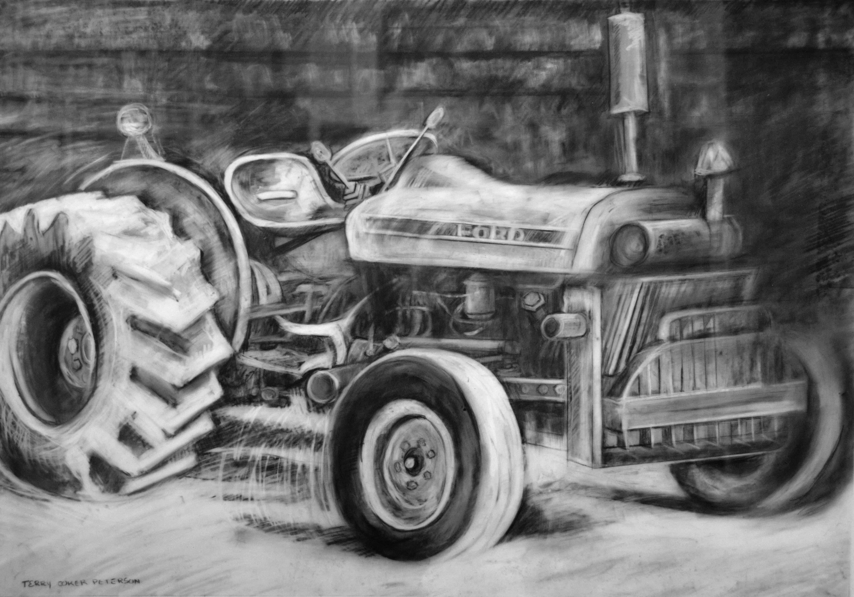 Рисунки тракторов карандашом фото