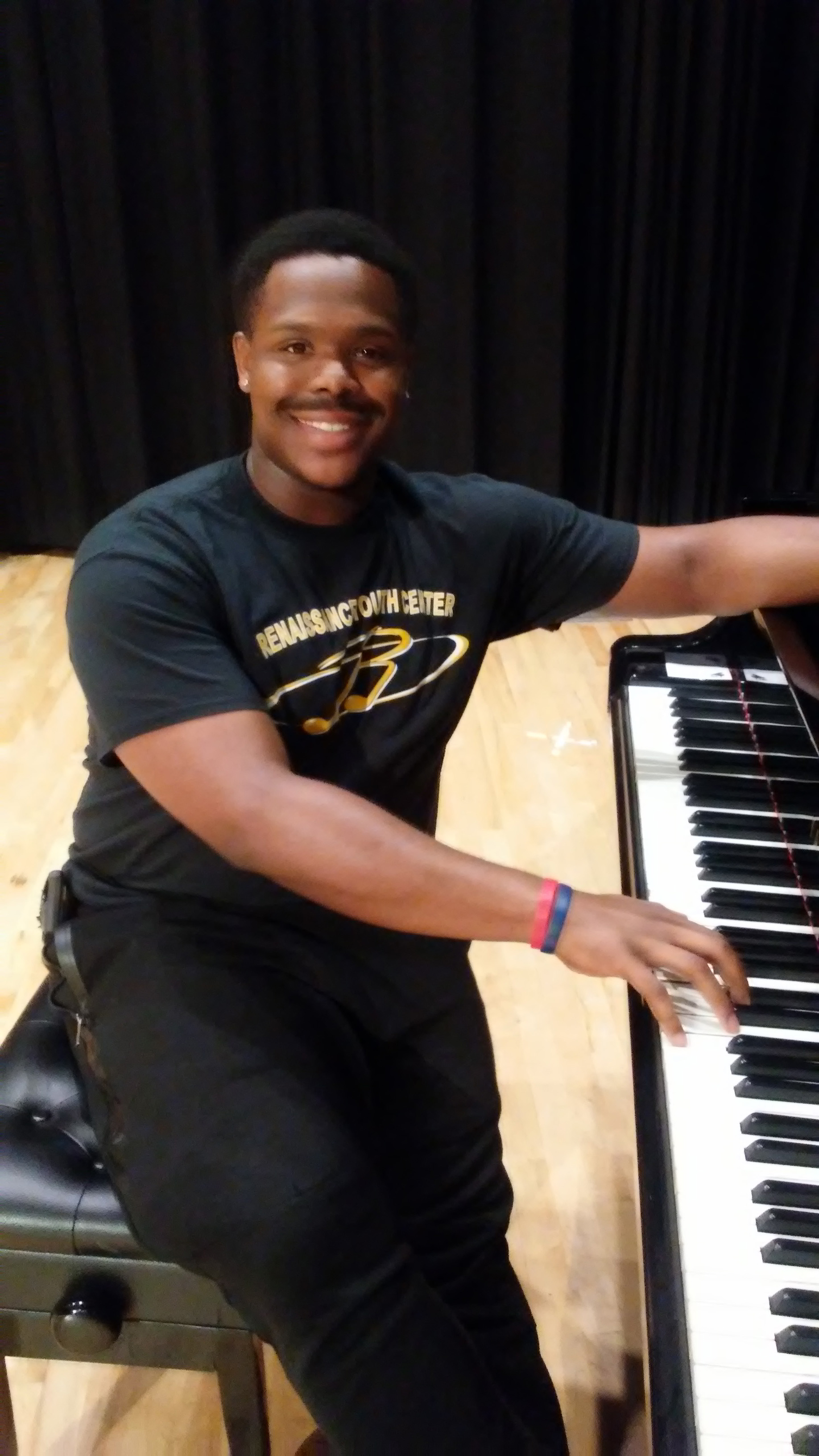 Musical Composer Allen Branch is a student at Baltimore's Peabody Conservatory.