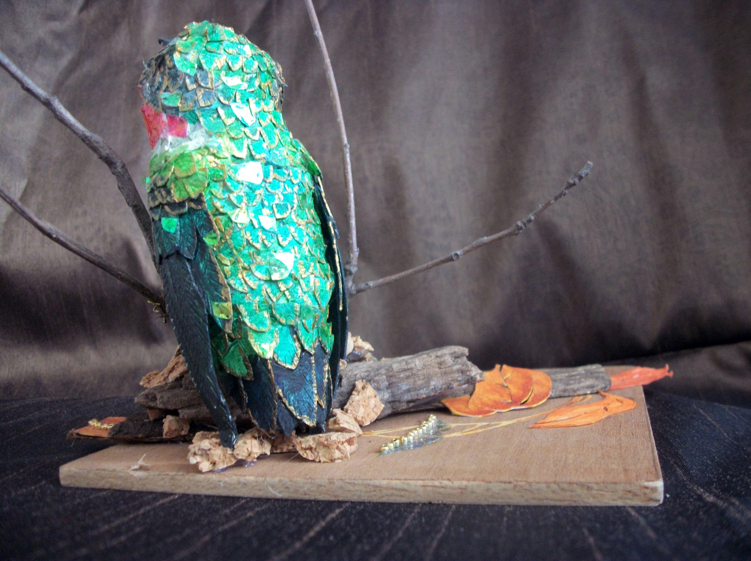 Susan Dorsey_Male Ruby-throated Hummingbird (detail)
