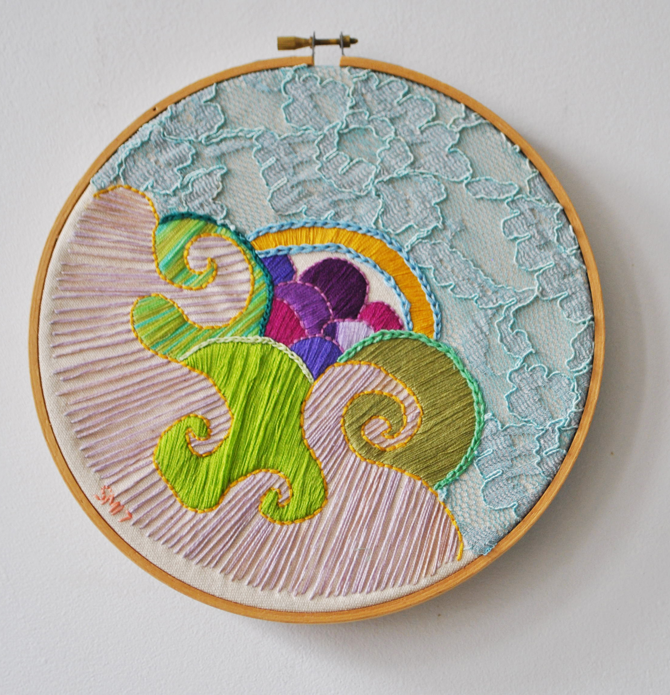 embroidery, fiber, fibers art