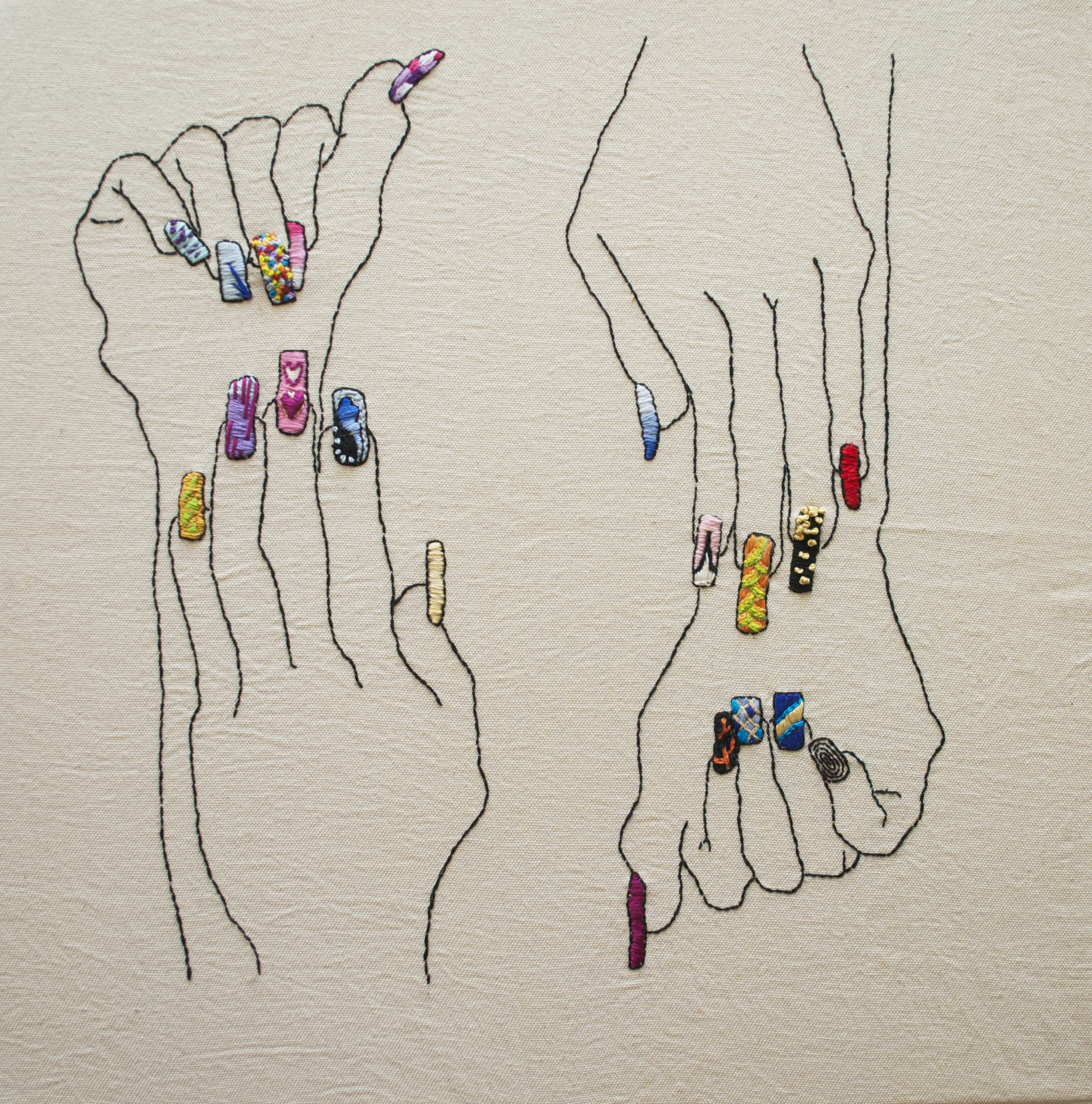 embroidery, contemporary craft