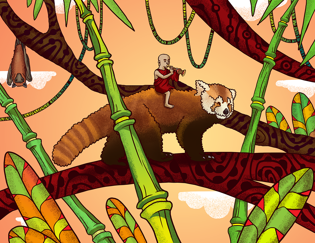 Red Panda Illustration