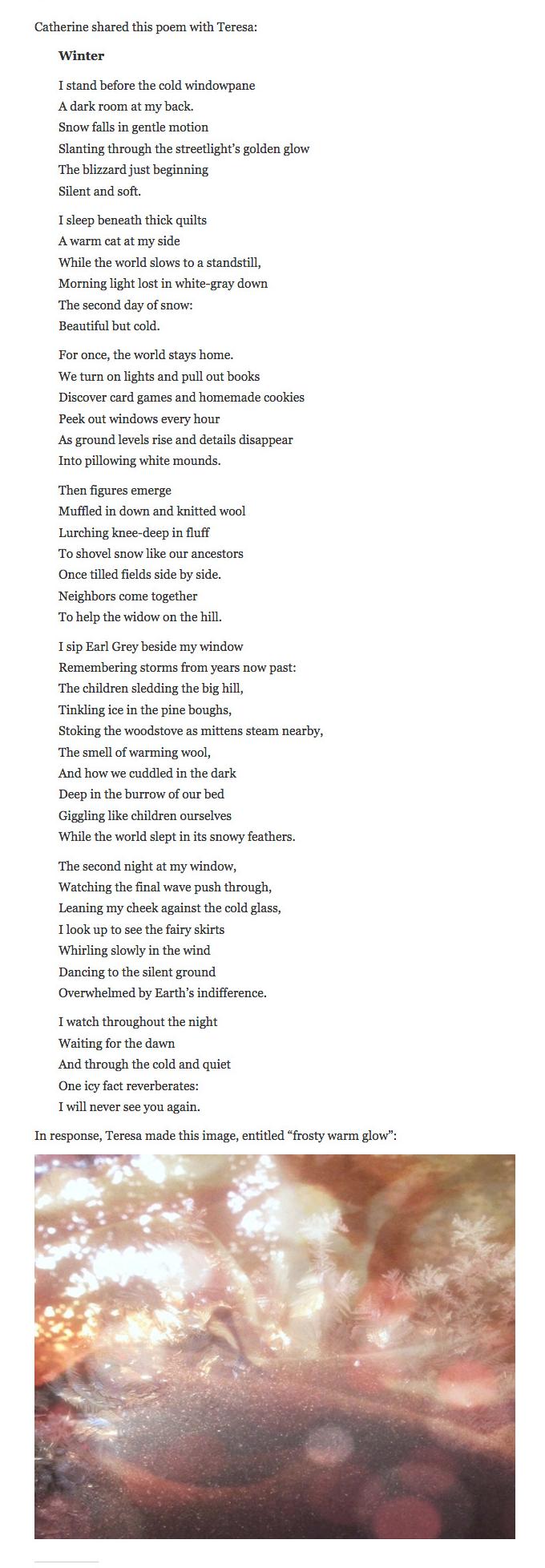 2016 Ekphrastic poem and visual response, Duggan-Maire (screengrab)