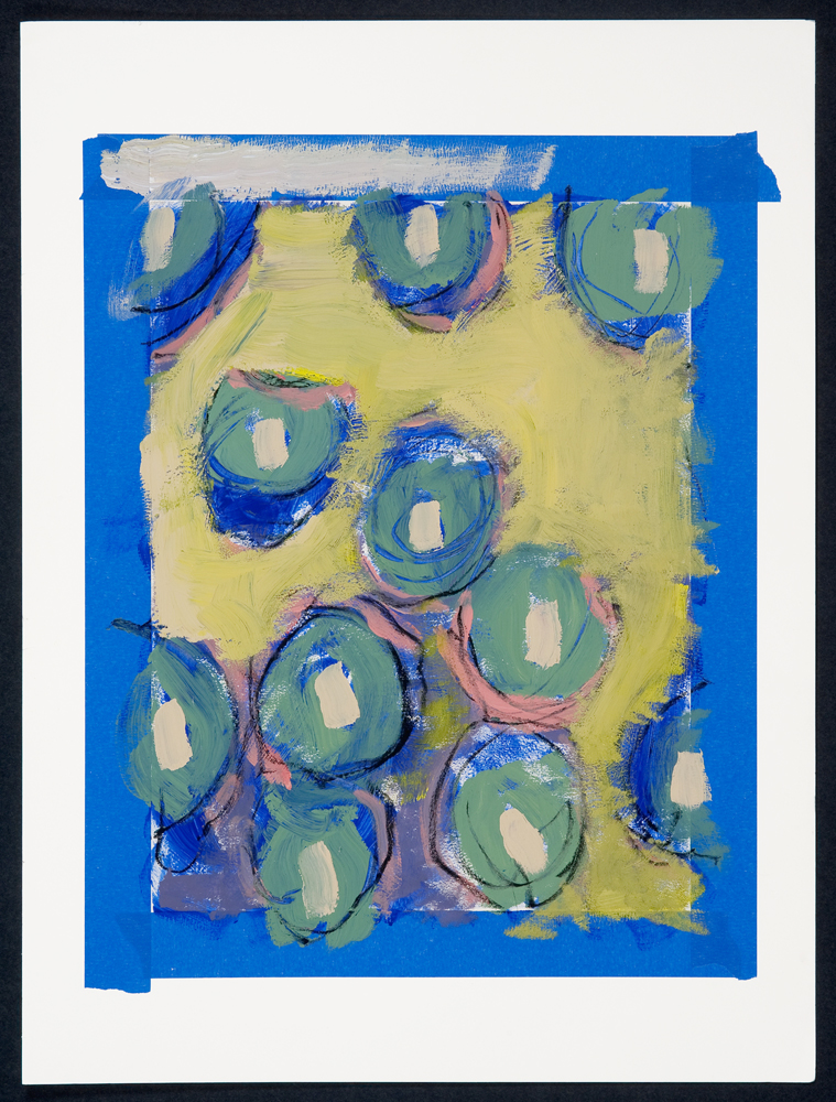 Blue Cells, painting by Carol McGraw