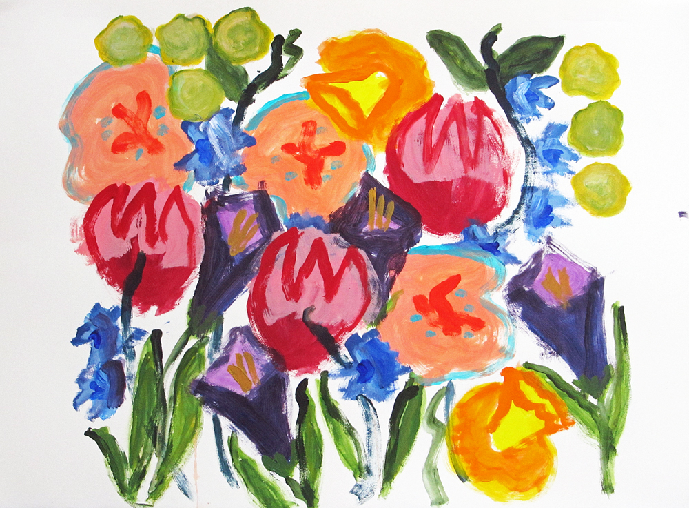 Flower Choir, painting by Carol McGraw