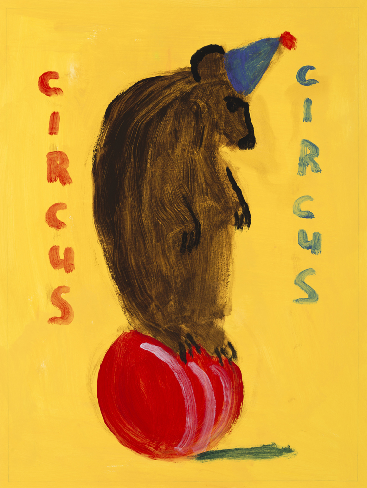 Circus - Balancing Bear, painting by Carol McGraw