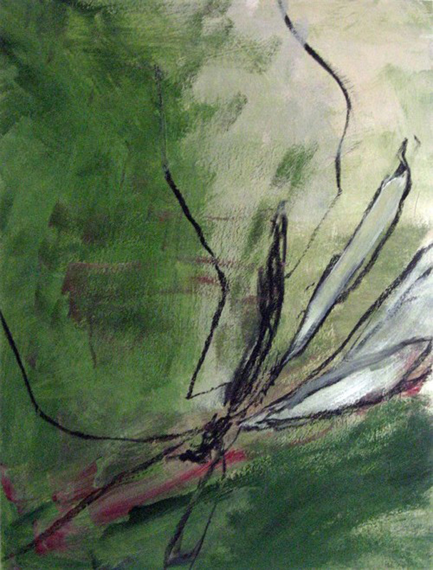 Crane Fly 2, painting by Carol McGraw