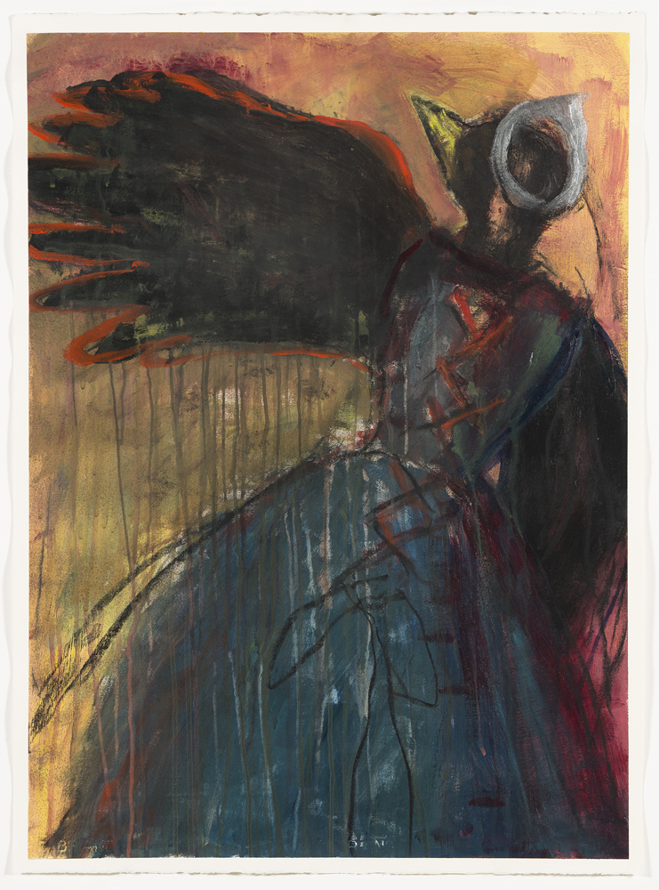 The Crow Maiden Waves Goodbye, painting by Carol McGraw