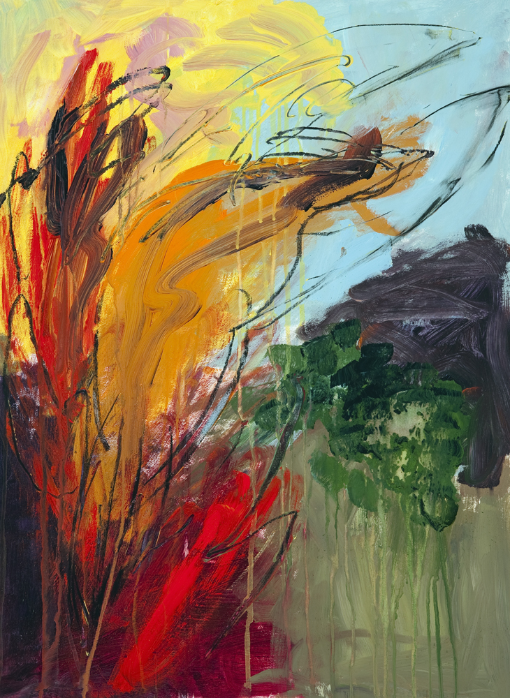 Phoenix Rising, painting by Carol McGraw