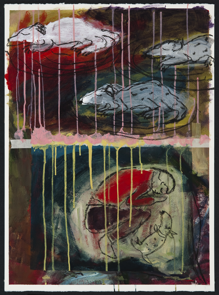 Sleeping The World Away, painting by Carol McGraw