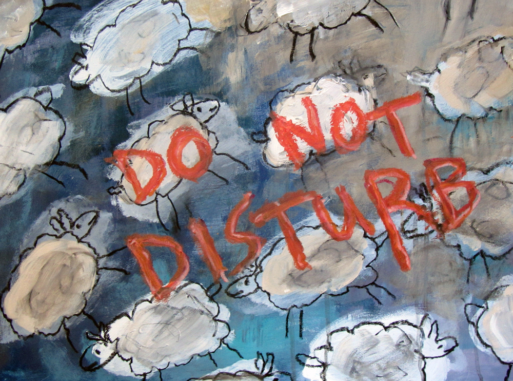 Do Not Disturb, painting by Carol McGraw