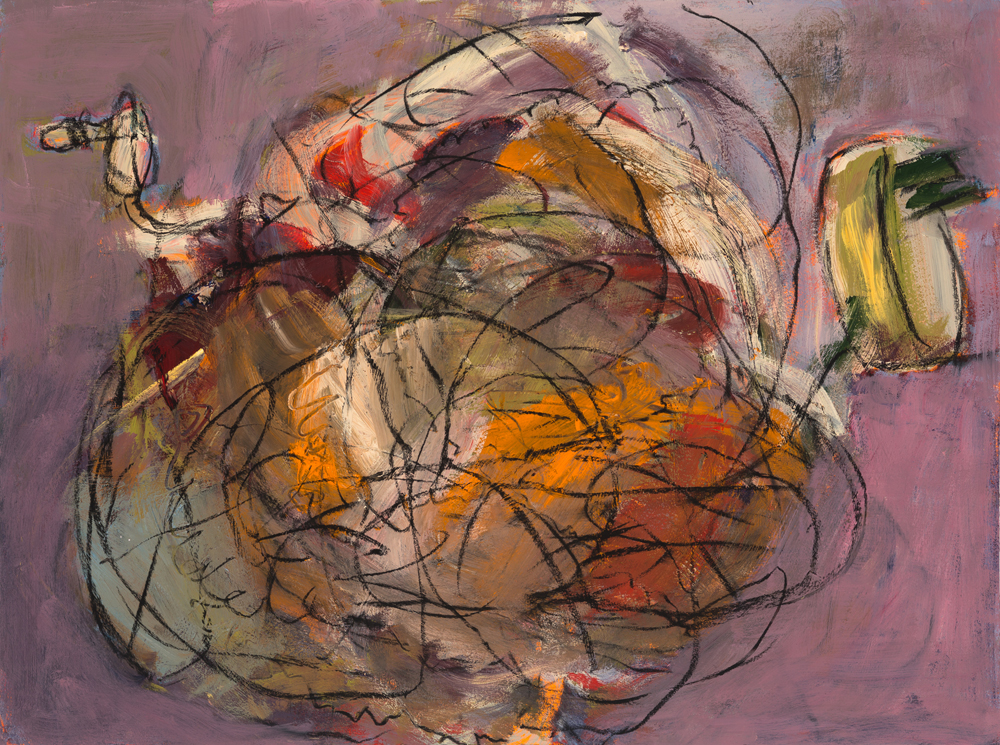 Tangled Wires, painting by Carol McGraw