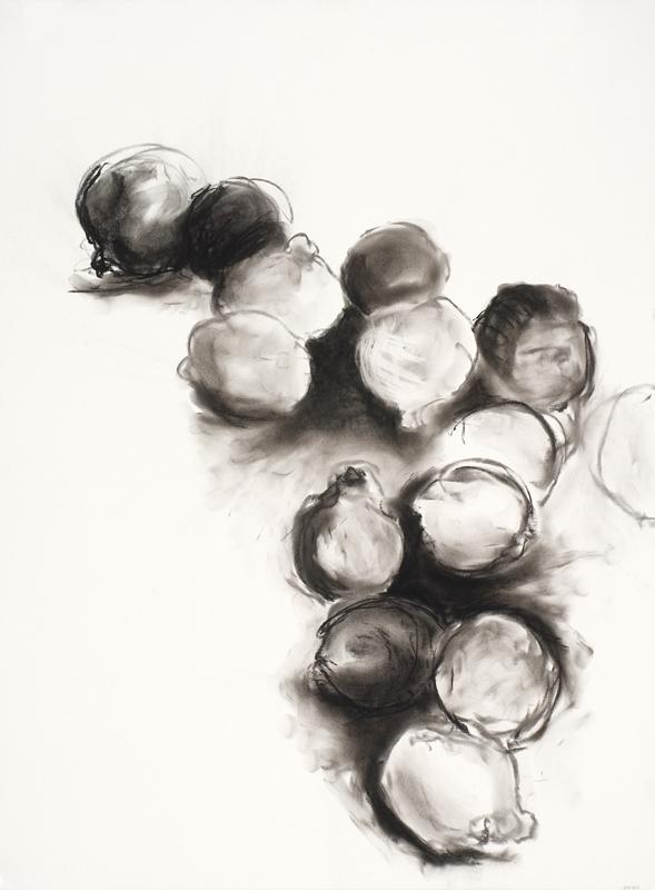 Cascading Oranges, drawing by Carol McGraw