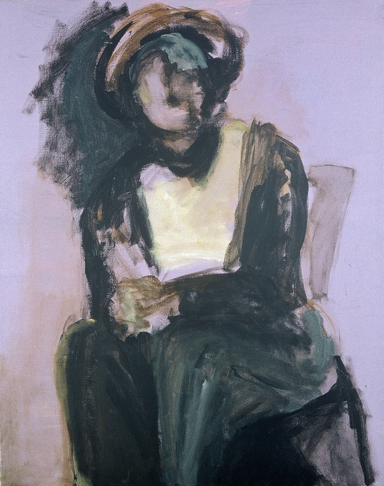 Lavender Figure, painting by Carol McGraw