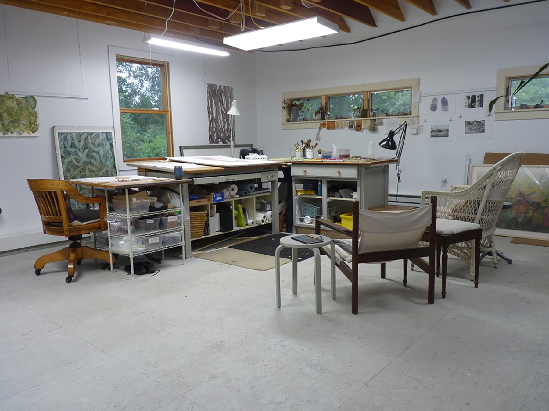 Neill's studio in Lee, MA