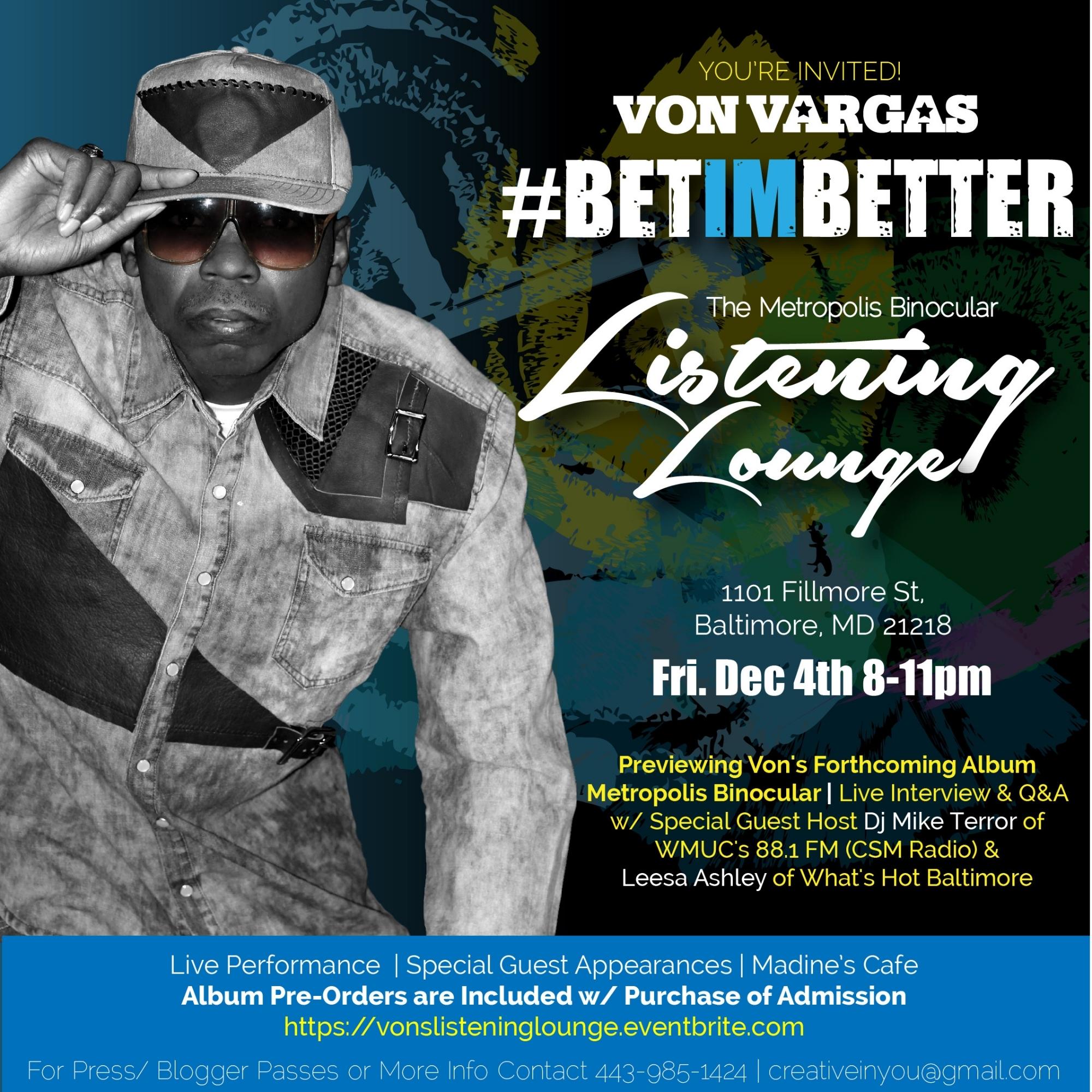 Von Vargas Listening Lounge Promo