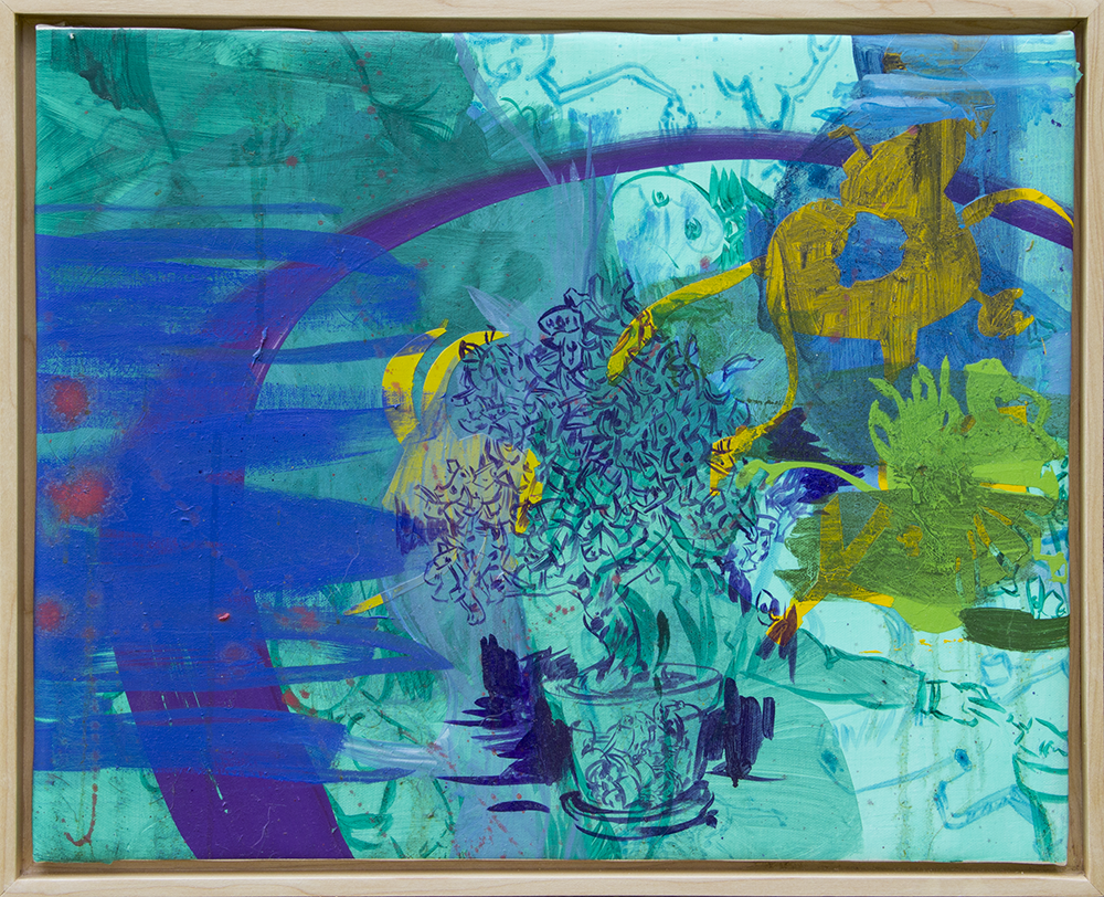 Money Tree, oil on canvas, 2018, 14 ¾ x 18 ¾
