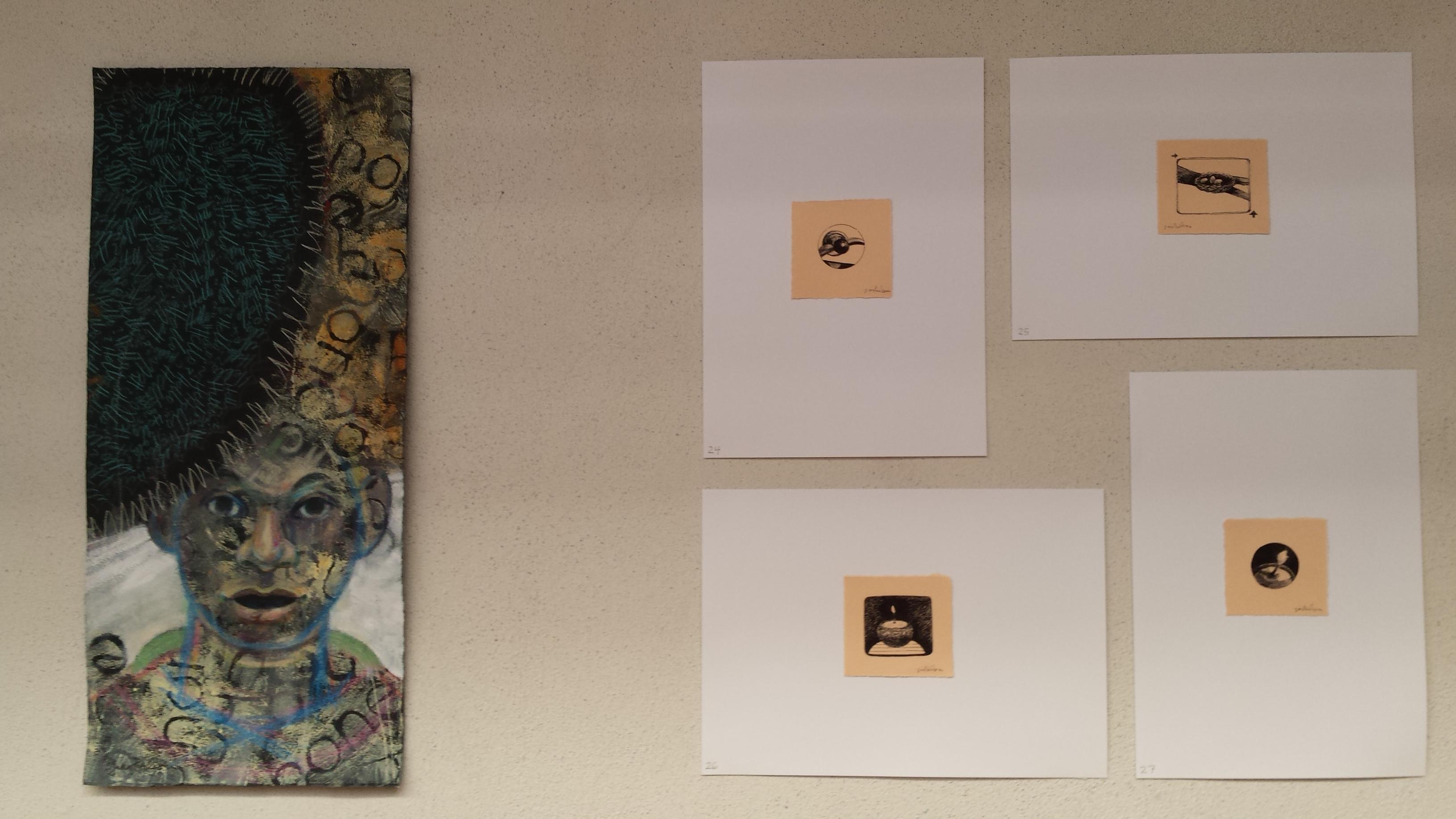 installation detail at Gina Pierleoni exhibit at Uferwerk