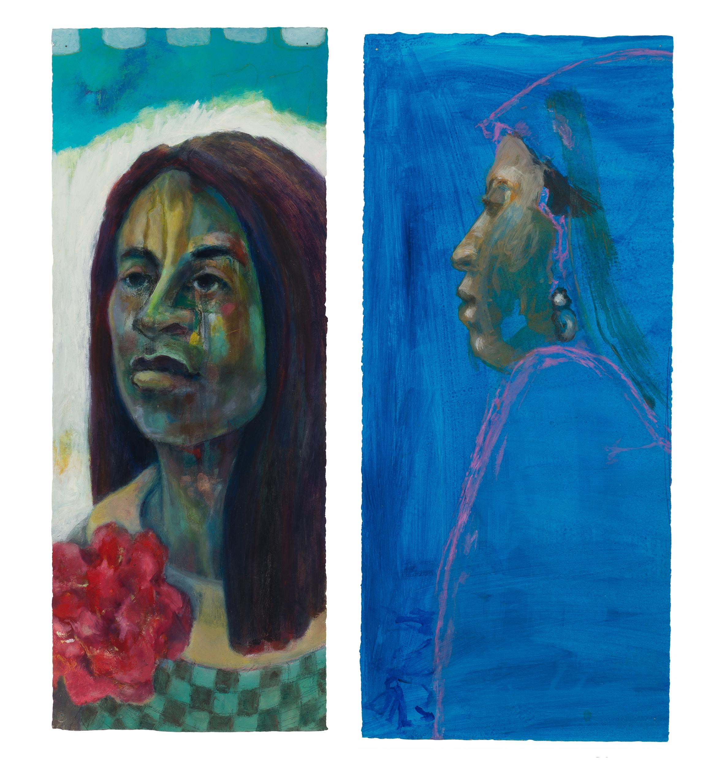 portraits spark conversations, mixed media portraits, real people, paintings, conversations create portraits